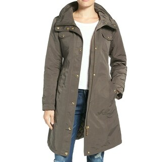 Ellen Tracy NEW Green Womens Large L Water Repellent Hoooded Jacket