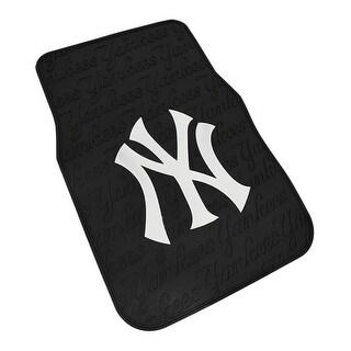 MLB New York Yankees Officially Licensed Universal Fit PVC Floor Mat Set of 2 - Black