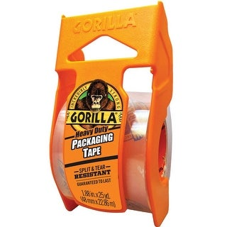 Gorilla 6034002 Packaging Tape, Clear