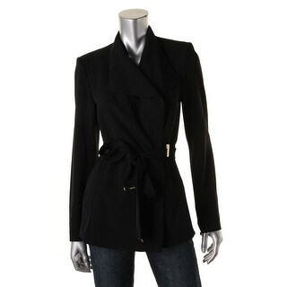 Calvin Klein Womens Wrap Long Sleeves Jacket