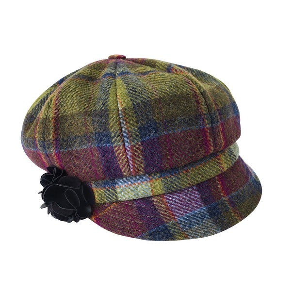 8dce6275 Shop Women's Irish Wool Hat - 8-Panel Newsboy Flat Cap - Free Shipping  Today - Overstock - 18767975