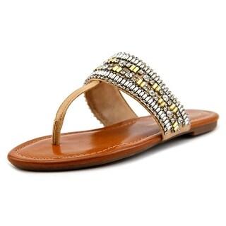 Jessica Simpson Rollison Women Open Toe Synthetic Brown Thong Sandal