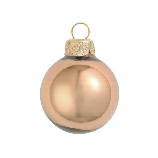 """40ct Shiny Chocolate Brown Glass Ball Christmas Ornaments 1.25"""" (30mm)"""