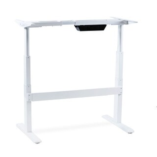 Mount-It! Electric Stand Up Desk, Frame Only, Dual Motor Height Adjustable Standing Desk,White