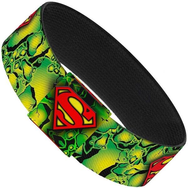 Superman Shield Green Kryptonite Elastic Bracelet