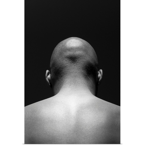 """""""Back view of a man's head and shoulders"""" Poster Print"""