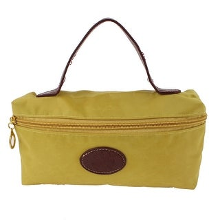 Unique Bargains Lady Money Cell Phone Makeup Holder Hand Strap Cosmetic Bag Pouch Yellow