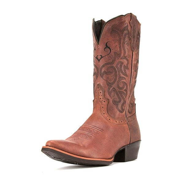 Justin Boots L2559 Women  Pointed Toe Leather Brown Western Boot