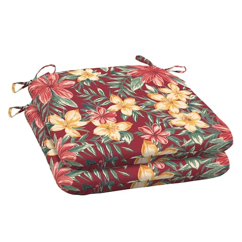 Arden Selections Ruby Clarissa Tropical Outdoor Seat Cushion (2-Pack) - 18 in L x 19 in W x 2.5 in H