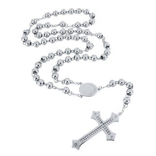 Designer New Stainless Steel Necklace Cross Pendant Simulated Diamonds On Sale New