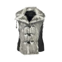 MontanaCo Vest Womens Geyser Faux Fur Front Toggles