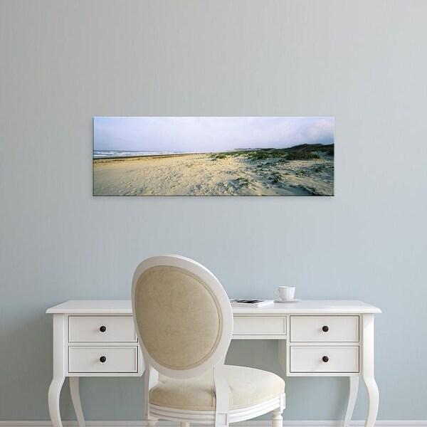Easy Art Prints Panoramic Images's 'Beach, South Padre Island, Texas, USA' Premium Canvas Art