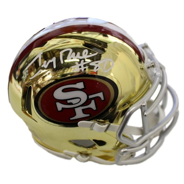 fc7d3cefe32 Shop Jerry Rice Autographed San Francisco 49ers Chrome Mini Helmet BAS - Free  Shipping Today - Overstock - 23500277