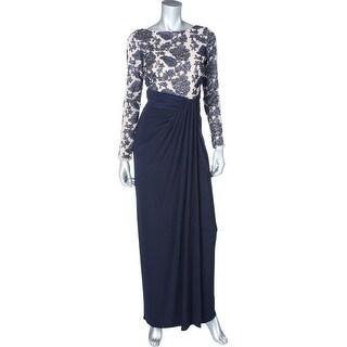 Lauren Ralph Lauren Womens Petites Evening Dress Sequined Long Sleeves
