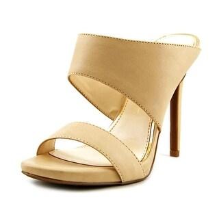 Jessica Simpson Romy Open-Toe Leather Mules