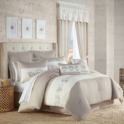 Royal Court Water's Edge Natural Comforter Set