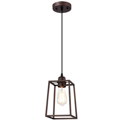 1-light Oil Rubbed Bronze Hanging Pendant