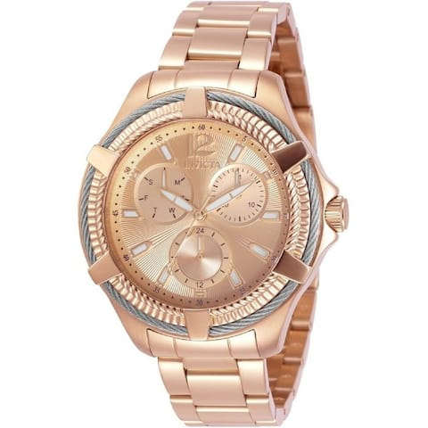 Invicta Women's 30898 'Bolt' Stainless Steel Watch - Rose-Tone