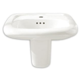 """American Standard 0958.908EC  Murro 21-1/4"""" Wall Mounted Porcelain Bathroom Sink with EverClean Technology - White"""