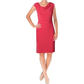 Lauren Ralph Lauren Womens Caldonna Casual Dress Matte Jersey Gathered