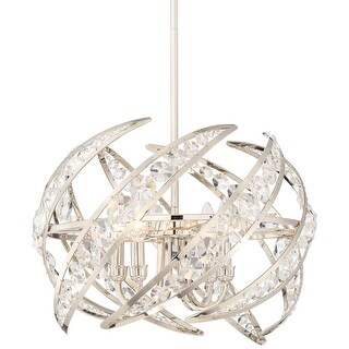 "Platinum PCCN2818 Crescent 4 Light 18"" Wide Pendant with Clear Glass"