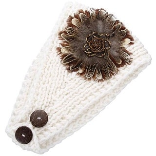 Mad Style White Dahila Floral Headwrap