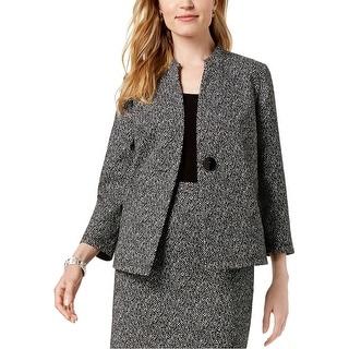 Link to Kasper Womens Knit Jacquard Jacket, black, 14 Similar Items in Women's Outerwear