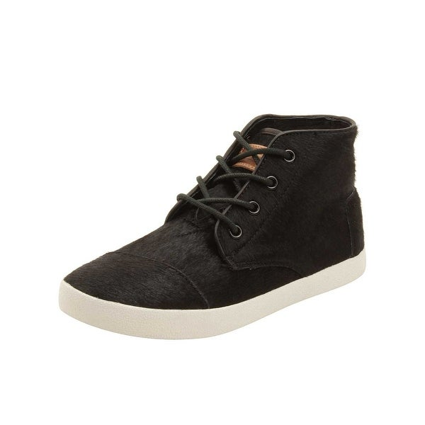 de6f94690d2 Shop TOMS Womens Paseo High Sneakers in Black Pony Hair - Free ...