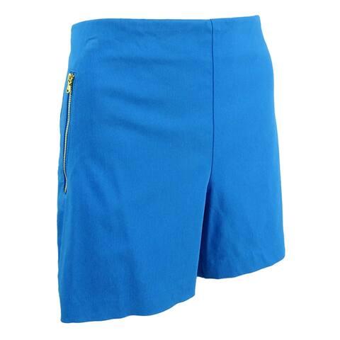 INC International Concepts Women's Bengaline Shorts (8, Caribe Blue) - Caribe Blue - 8