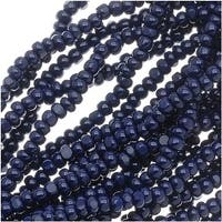 Czech Charlotte Seed Beads 13/0 Opaque Dark Blue 1/2 Hank