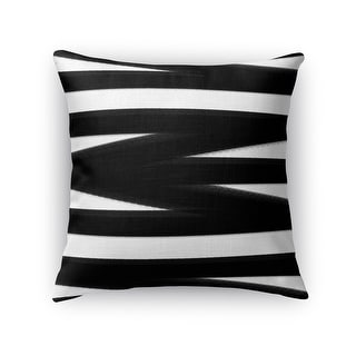 Link to Kavka Designs black/ white bandages black accent pillow with insert Similar Items in Decorative Accessories