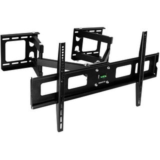 Mount-It! Corner TV Wall Mount Full Motion for 40 43 50 55 60 Inch TVs - Black