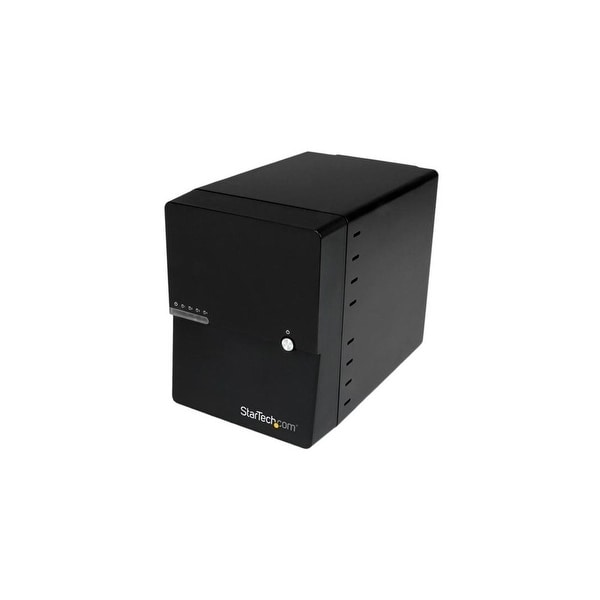StarTech S3540BU33E StarTech.com USB 3.0 / eSATA 4-Bay 3.5in SATA III Hard Drive Enclosure w/ built-in HDD Fan & UASP - SATA