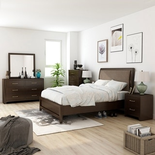 Link to Furniture of America Yra Transitional Walnut 6-piece Bedroom Set Similar Items in Bedroom Furniture