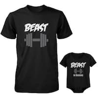 Beast and Beast In Training Dad and Baby Matching Shirt and Bodysuit