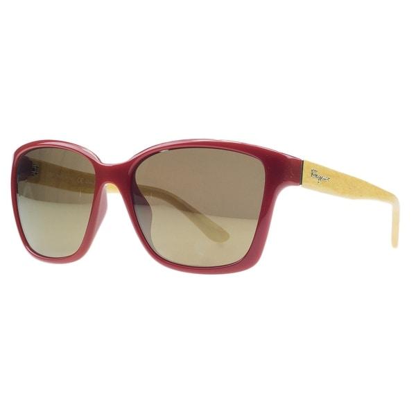 Salvatore Ferragamo SF716/S 618 Red/Yellow Wayfarer Sunglasses - 58-16-135
