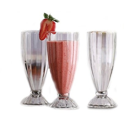 Palais Glassware 'Creme Glacee' Collection High Quality Set of 4 Sundae Glasses (13 oz, Optic Glass)