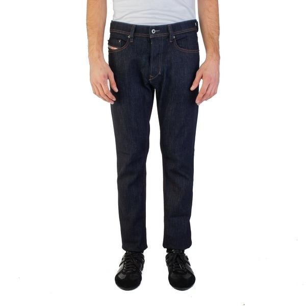 87aed825 Diesel Men's Slim-Carrot Fit Tepphar R46D8 Stretch Jean Pants Dark