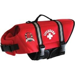 Red - Paws Aboard Neoprene Doggy Life Jacket XXS