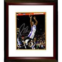 Jahlil Okafor signed Philadelphia 76ers 8x10 Photo Custom Framed white jersey leap