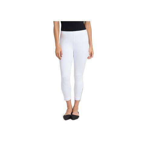 Lysse Womens Cropped Jeans Zipper Cuff Denim