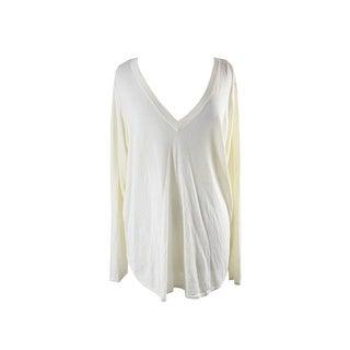 Ralph Lauren Plus Size Antique Ivory V-Neck Sweater 3X