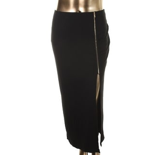Vince Camuto Womens Jersey Solid Maxi Skirt - L