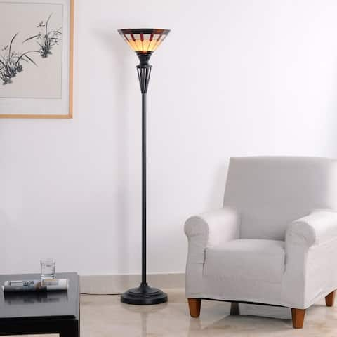 Audery 3-Way Tiffany Style Torchiere Lamp