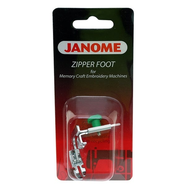Janome Memory Craft Embroidery Machine Narrow Base Zipper Foot