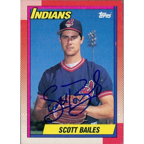 Signed Bailes Scott Cleveland Indians 1990 Topps Baseball Card Autographed