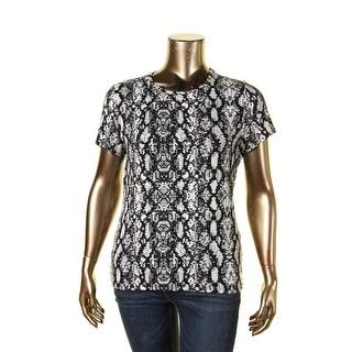 Calvin Klein Womens T-Shirt Stretch Print - xL