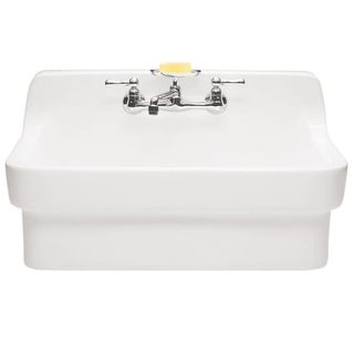 "American Standard 9061.193 Plaster 30"" Wall Mounted Porcelain Bathroom Sink"