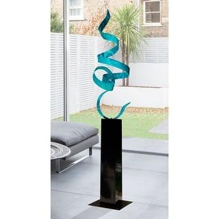 Statements2000 Teal Blue Modern Metal Garden Sculpture Indoor/Outdoor Decor by Jon Allen - Teal Perfect Moment