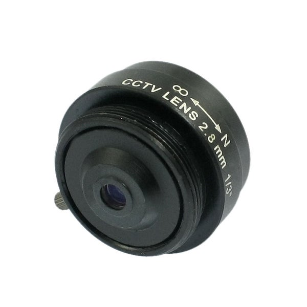 "CS Mount Manual Focus Fixed Iris CCTV Cameras Lens 2.8mm 1/3"""